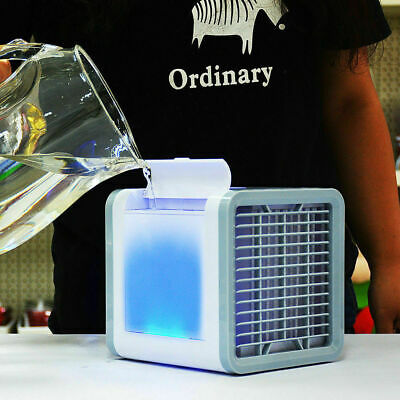 Portable Mini Air Cooler Air Cooling Conditioner Water Tank Fan Humidifier USB M