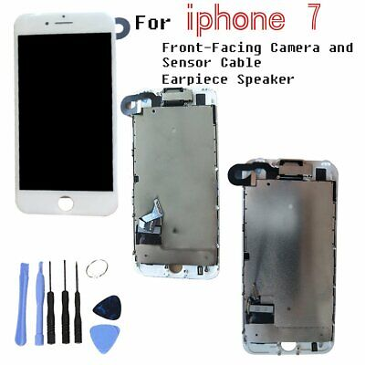 For iPhone 7 LCD Screen White Display Touch Digitizer Assembly Camera Speaker