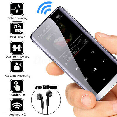 1.8'' INCH 16GB Bluetooth HiFi OLED Touch Mirror Screen Music MP3 MP4 Player