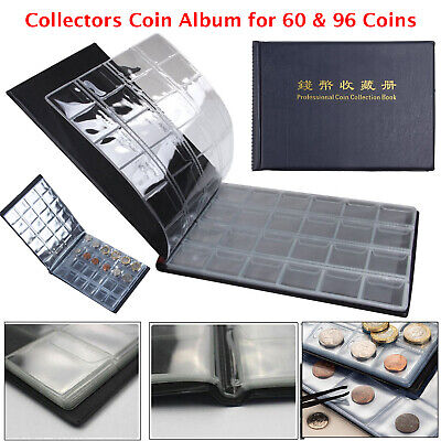 60-96 Coins Collectors Coin Album for 50p Olympic Beatrix old £2 £1 Folder Book