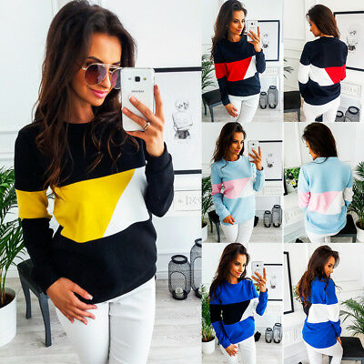 Womens Casual Long Sleeve Hooded Jumper Tops T Shirt Sweatshirt Pullover Blouse