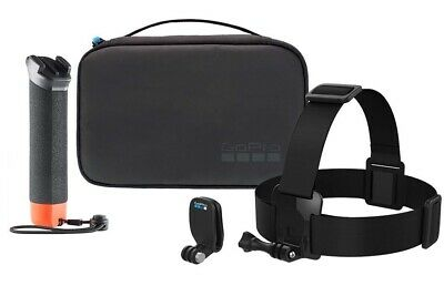 GOPRO ADVENTURE KIT inc OFFICIAL ACCESSORIES INC THE HANDLER, HEAD STRAP, CASE..