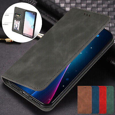For Samsung Galaxy S10 5G S9 S8 Note 9 Case Magnetic Slim Leather Wallet Cover