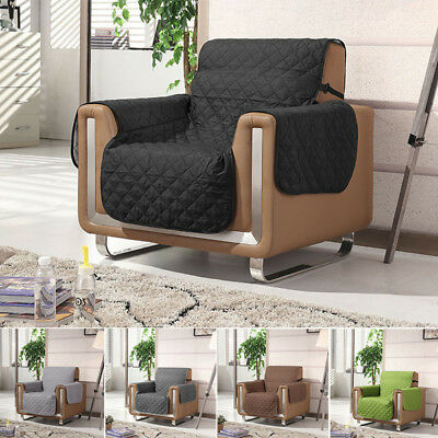 NEW 1 Seater Quilted Water Repellent Couch Cover Sofa Slipcover Protector