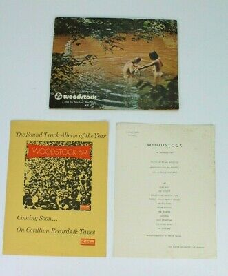 WOODSTOCK 3 Days of Peace & Music 1969 Promo Book Michael Wadleigh Movie E/0124
