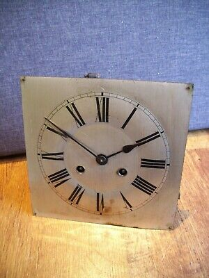 Antique Clock Parts for Repairs Wall Clock Metal Face and Mechanism with Hammer