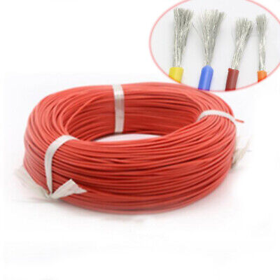 2~30AWG Red HIGH TEMP Super Flexible Silicone Wire Electronic Cable Tin Copper