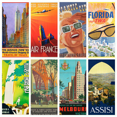 TRAVEL POSTERS V3 A4 A5 Wall Decor Cafe Bar Shop Kitchen Bathroom Poster Prints