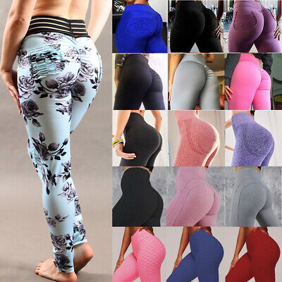 Women Push Up High Waist Yoga Pants Fitness Activewear Leggings Sports Trousers