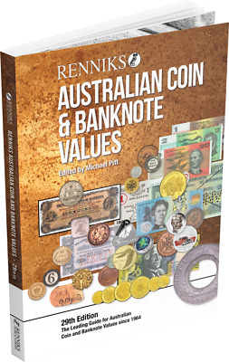 2019 Renniks Australian Coin & Banknote Values Book 29th Edition (Hardcover)