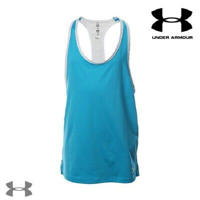 girls Under Armour Luna tank top HeatGear junior womens vest tee