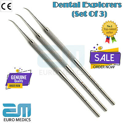 Dental Explorers Periodontal Teeth Oral Cleaning Lab Tools Tartar Plaque Remover