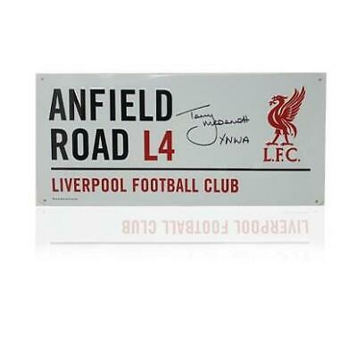 Terry McDermott Hand Signed 'Anfield Road' Metal Sign