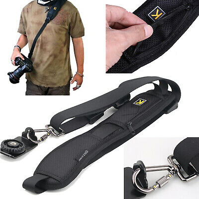 Single Shoulder Quick Sling Camera Belt Strap SLR DSLR Cameras Nikon Canon Sony