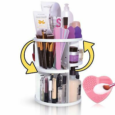 bb279f90a1e7 360 º ROTATION Makeup Cosmetic Perfume Organizer Case Jewelry ...