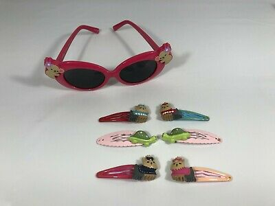 Gymboree Barrettes Snap Clip Alligator Claw Sugar Spice Smart Malibu Daisy EUC