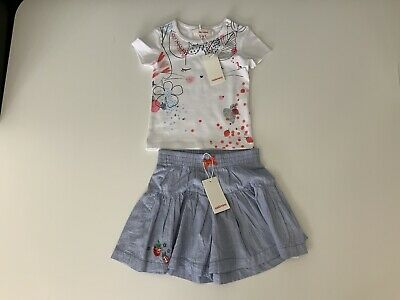 Catimini Girls Outfit, Set, Size Age 18 Months, Skirt & Top, New, Bnwt