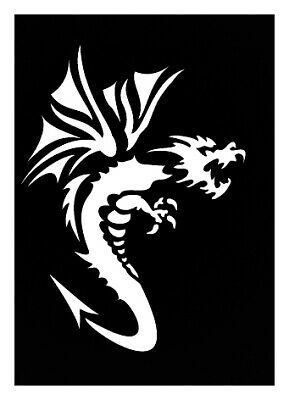 Pochoir adhésif Dragon 2 7x10 cm - Ki-Sign
