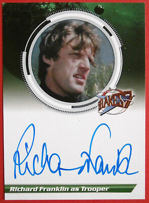 BLAKE'S 7 - RICHARD FRANKLIN, Trooper - Autograph Card - Unstoppable Cards 2013