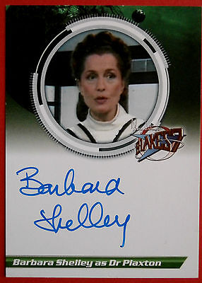 BLAKE'S 7 Barbara Shelley - Dr Plaxton - VARIANT 2 - Autograph Card, Unstoppable