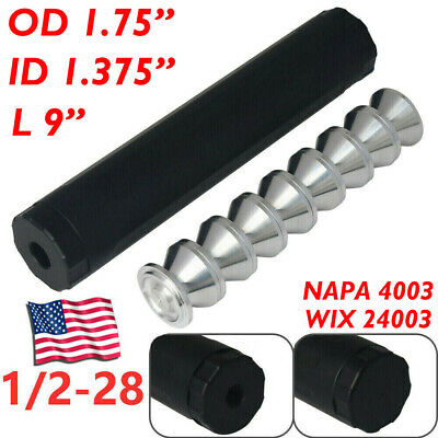 1/2-28 9'' Fuel Filter+8Pcs 1.375 Storage Cup NAPA 4003 WIX 24003 Car Used Only