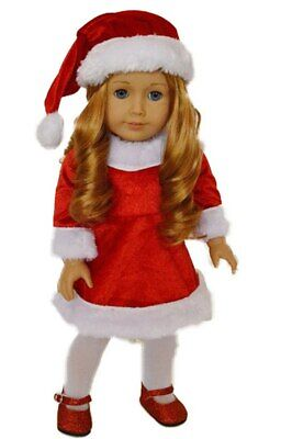Santa Dress For American Girl Dolls 18 Inch Doll Clothes