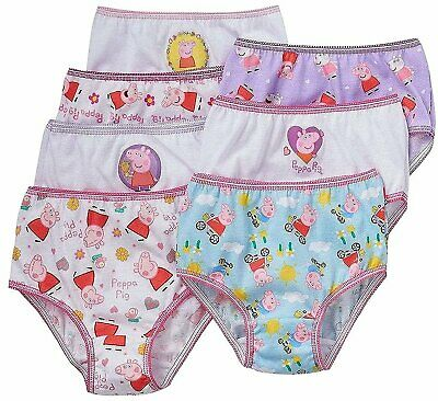 Peppa Pig Little Girls Panties 7 PAIR of Underwear Briefs Size 2T-3T