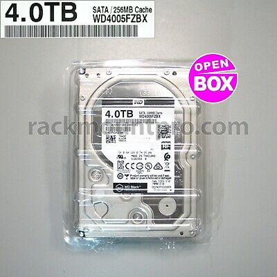 "WD Black WD4005FZBX 4TB 256M Cache 7200 6Gb/s 3.5"" Performance HDD (Open Box)"
