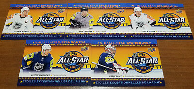 2018-19 Ud Tim Hortons Nhl All Star Standouts Complete 5 Card Insert Set