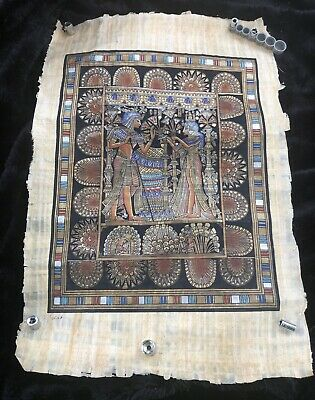 Highly Detailed Signed Egyptian Papyrus Painting - King Tut's  Wedding
