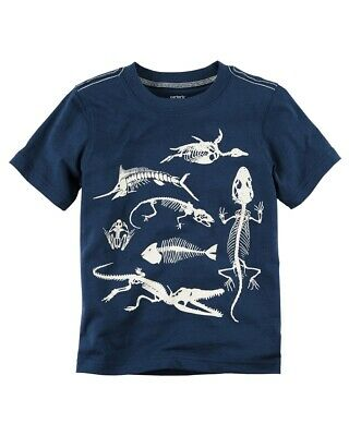 Carter's Baby Boys' Glow-In-The-Dark Reptile Graphic Tee, 3 Months