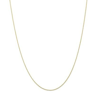 10k Yellow Gold Thin 18.0in Carded Cable Rope Necklace Chain
