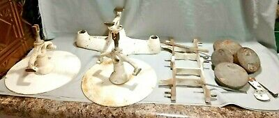 Antique Penn Scale Cast Iron Baker Balance + 4 Weights For Parts or Repair 90%