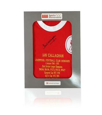Ian Callaghan Hand Signed 1963 Honours Shirt in AAA Gift Box
