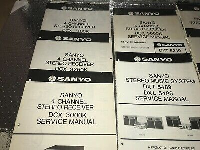 Sanyo Service Manuals 105 + Lot All In Good Condition See Pic's For Description