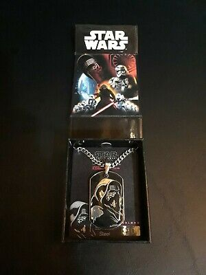 Star Wars The Force Awakens Kylo Ren Pendant Necklace With Chain Kohl's In Box