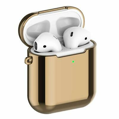 Charging Case AirPods 1st / 2nd Soft TPU Plated with LED Shockproof Gold Cover