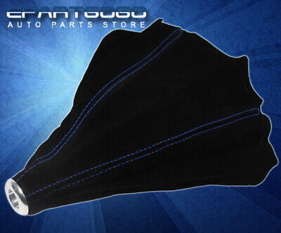 Manual Transmission Shift Boot Black Suede Blue Stitching For Nissan 240Sx 300Zx