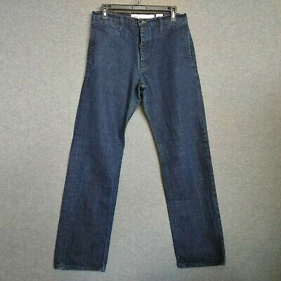 Vans off The Wall Cone Denim Straight Leg Mens Jeans Size 32 X 30  Button Fly