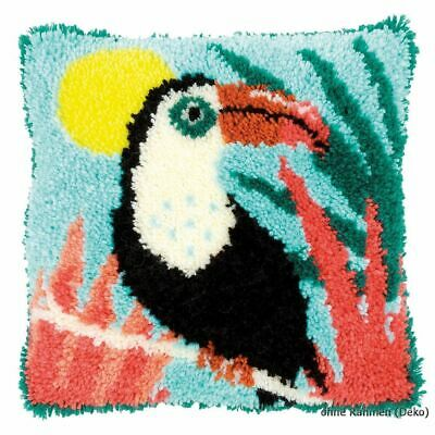Vervaco Latch hook kit cushion Toucan, DIY