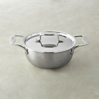All-Clad d5 Stainless-Steel 5-Ply 2 1/2-Qt. Round Oven with Lid