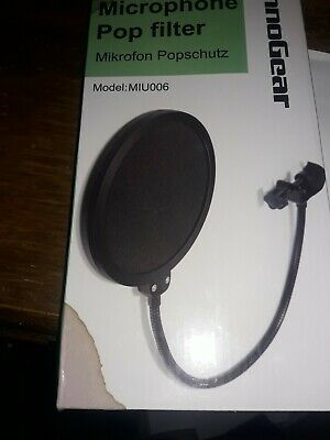 InnoGear Pop Filter Swivel Microphone with Double Layer Sound - Black