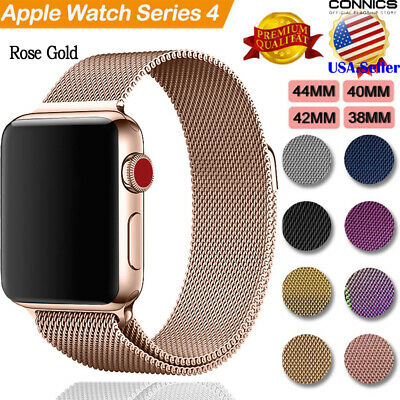 Milanese Stainless Steel Loop Band Strap For Apple watch Series 4 44/40mm 2018