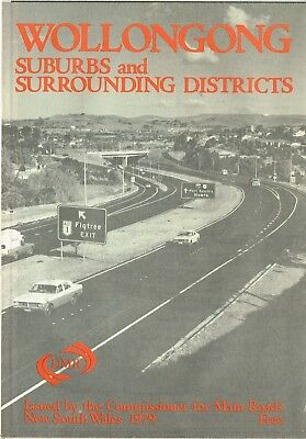 1979 Wollongong Suburbs & Surrounding Districts  by Commissioner for Main Roads