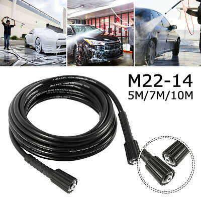 5/7/10M 5/16'' M22 High Pressure Washer Extension Hose Thread Jet IE