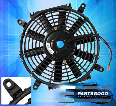 "Black 12"" Slim Fan Radiator Push Pull Thin Electric Cooling 12V Jdm For Toyota"