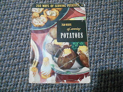 Old Vintage 1955 Culinary Art Institute Cookbook 250 WAYS OF SERVING POTATOES