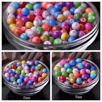 Wholesale 6mm 8mm 10mm Round Spots Coated Opaque Glass Loose Multi-Color Beads