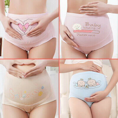 3PCS Over Bump Pregnancy Maternity Underwear Comfy Brief Panties Cotton Support