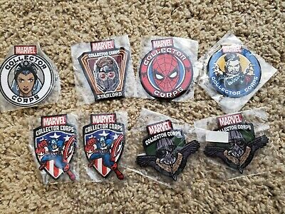 Funko Marvel POP Collector Corps Patches lot 8 Spider-Man Captain America More!